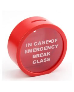 1Pcs-12cm-Red-In-Case-Of-Emergency-Break-Glass-Coin-Piggy-Bank-Money-Saving-Box-Case